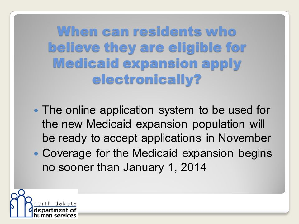 When can residents who believe they are eligible for Medicaid expansion apply electronically.