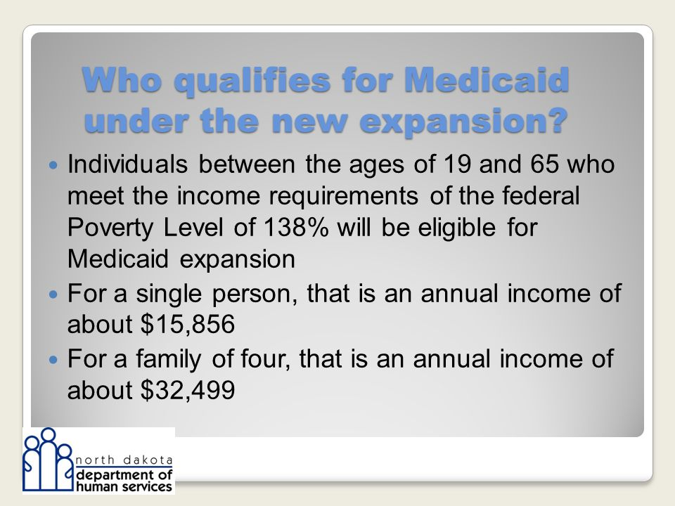 Who qualifies for Medicaid under the new expansion.