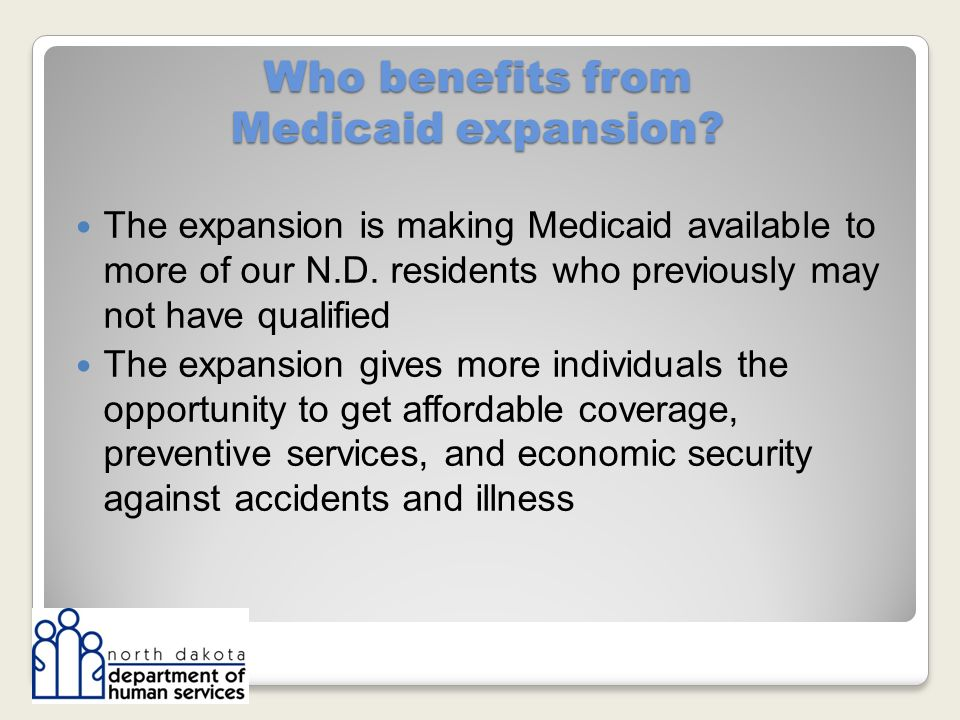Who benefits from Medicaid expansion.
