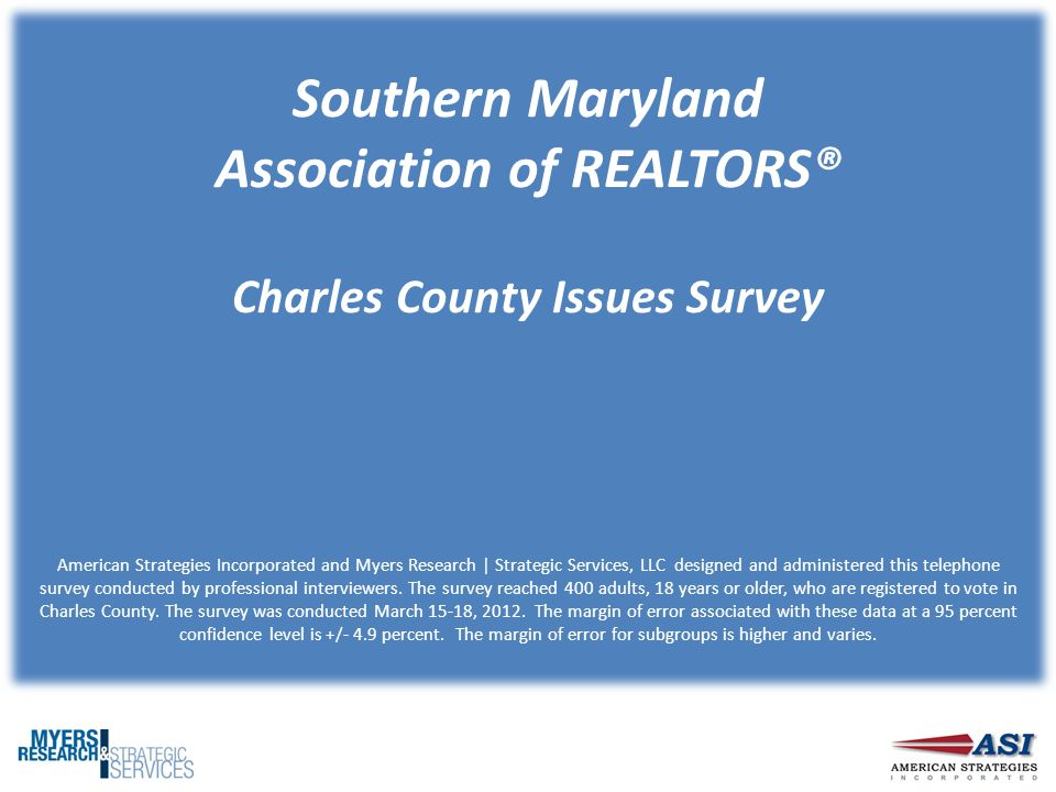 Southern Maryland Association Of Realtors Charles County Issues