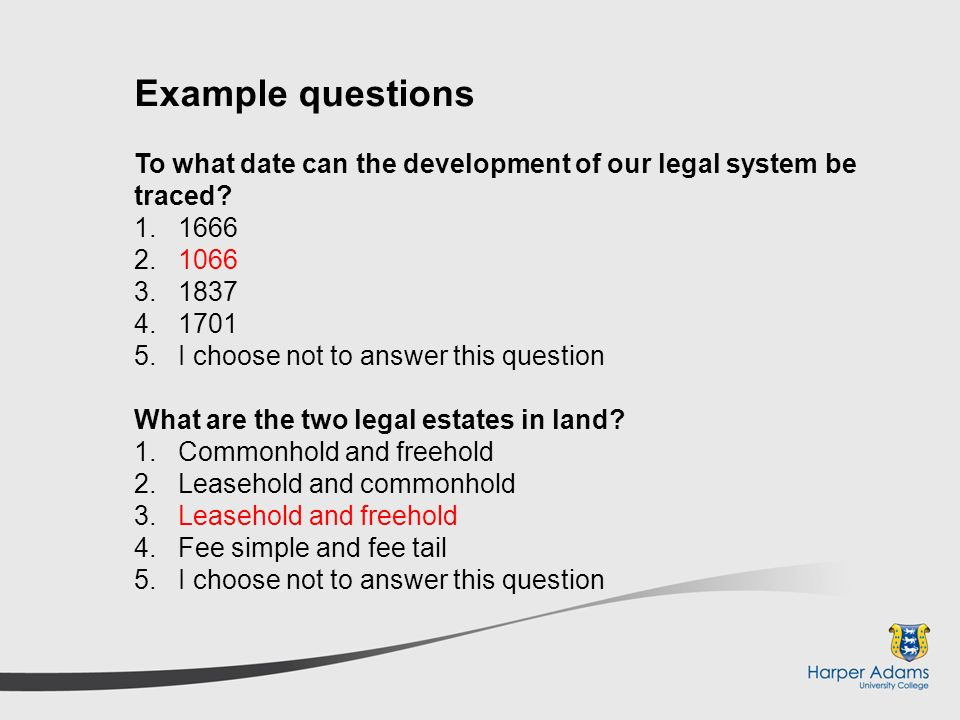 Use of multiple-choice questions for summative assessment in Law Law