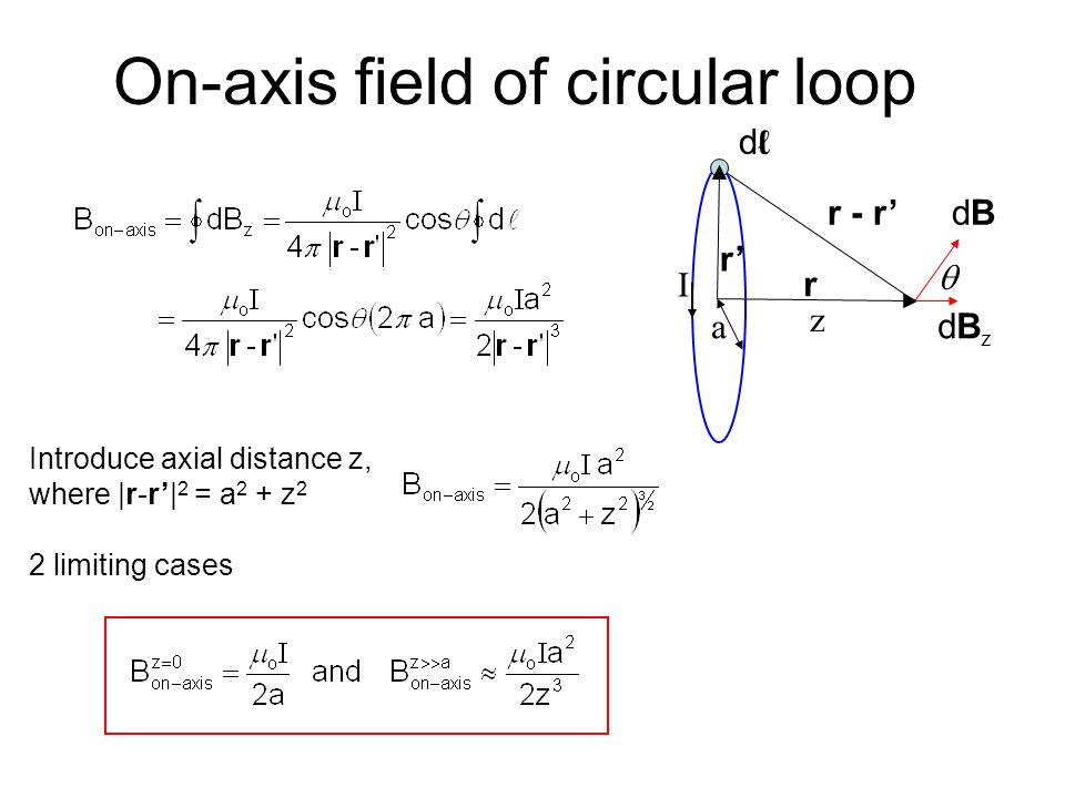 Biot-Savart Law The analogue of Coulomb's Law is the Biot