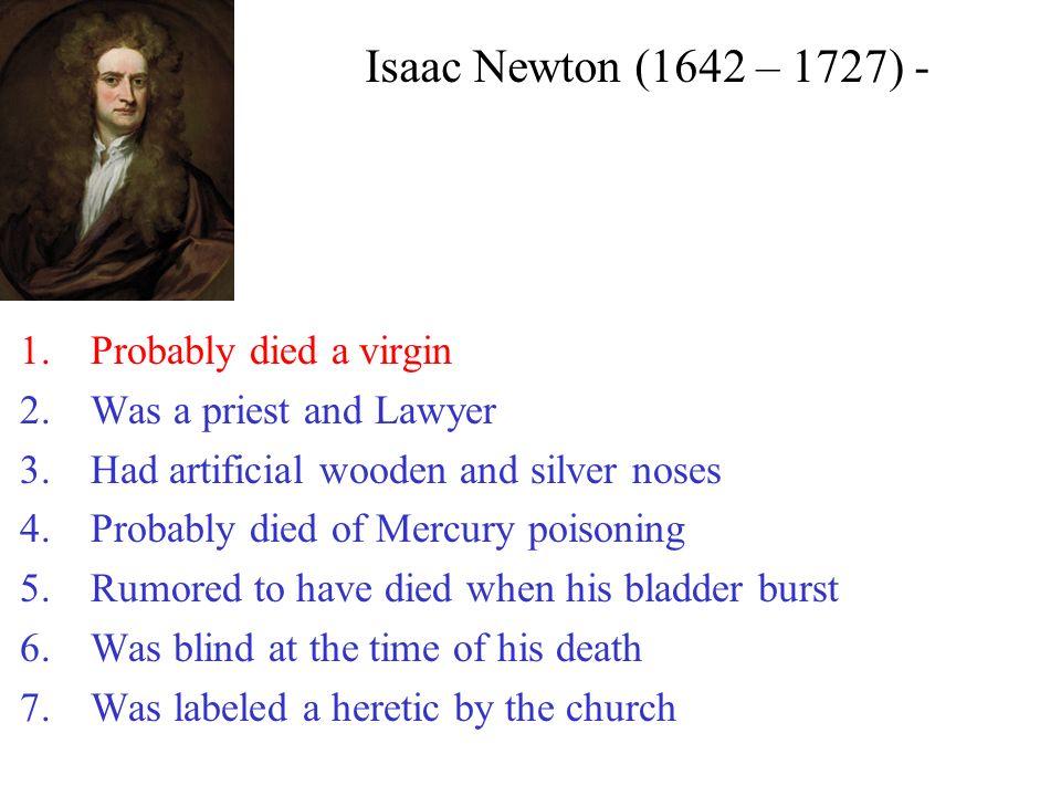 isaac newton mercury poisoning