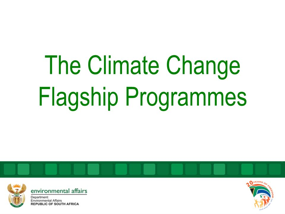 The Climate Change Flagship Programmes