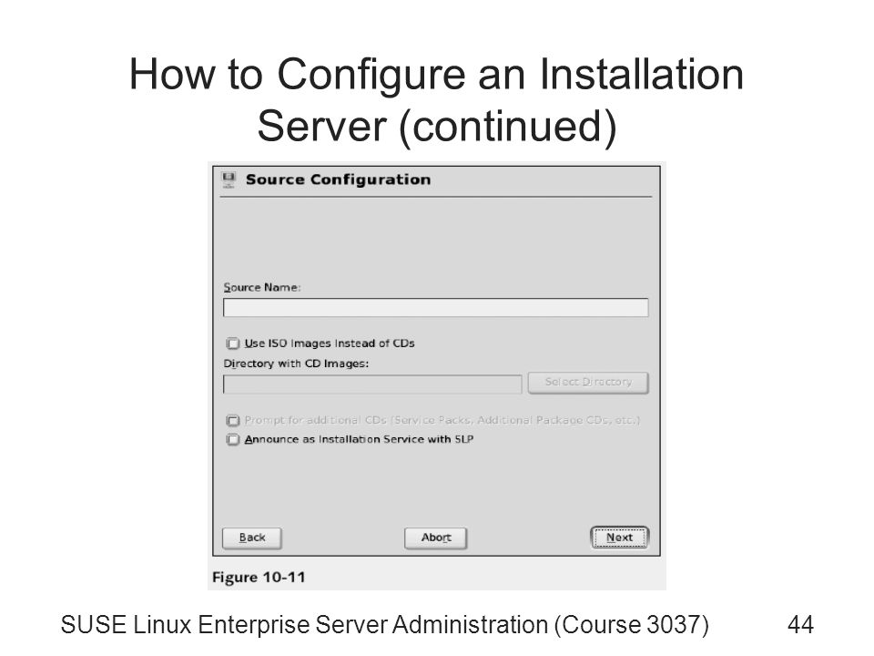 SUSE Linux Enterprise Server Administration (Course 3037) Chapter 10