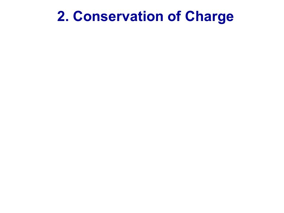 2. Conservation of Charge