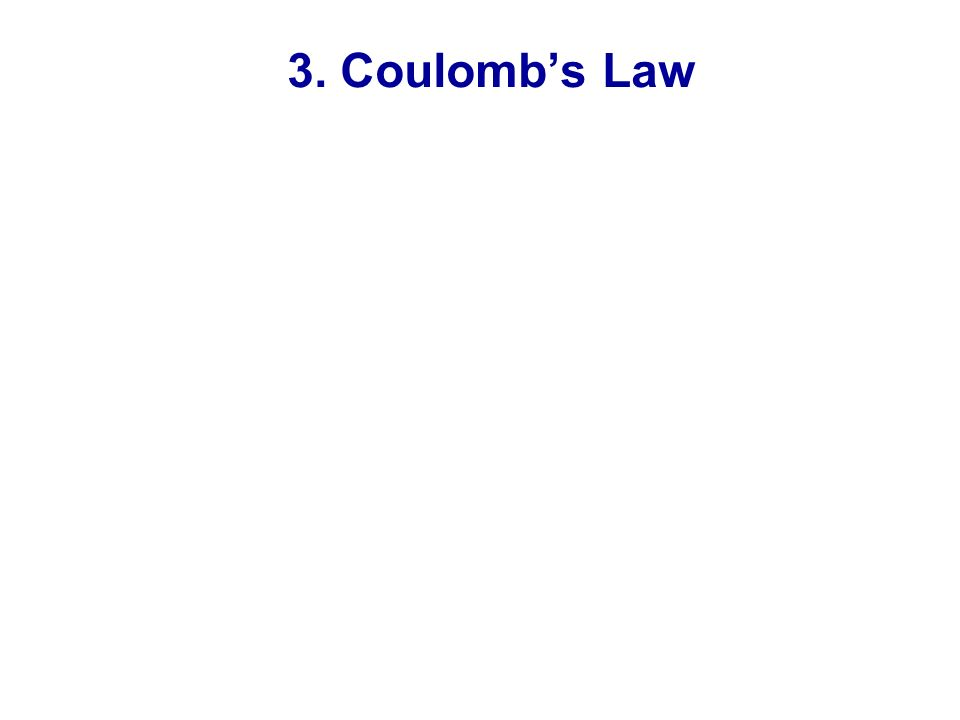 3. Coulomb's Law