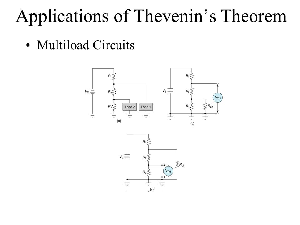 Applications of Thevenin's Theorem Multiload Circuits Insert Figure 7.30