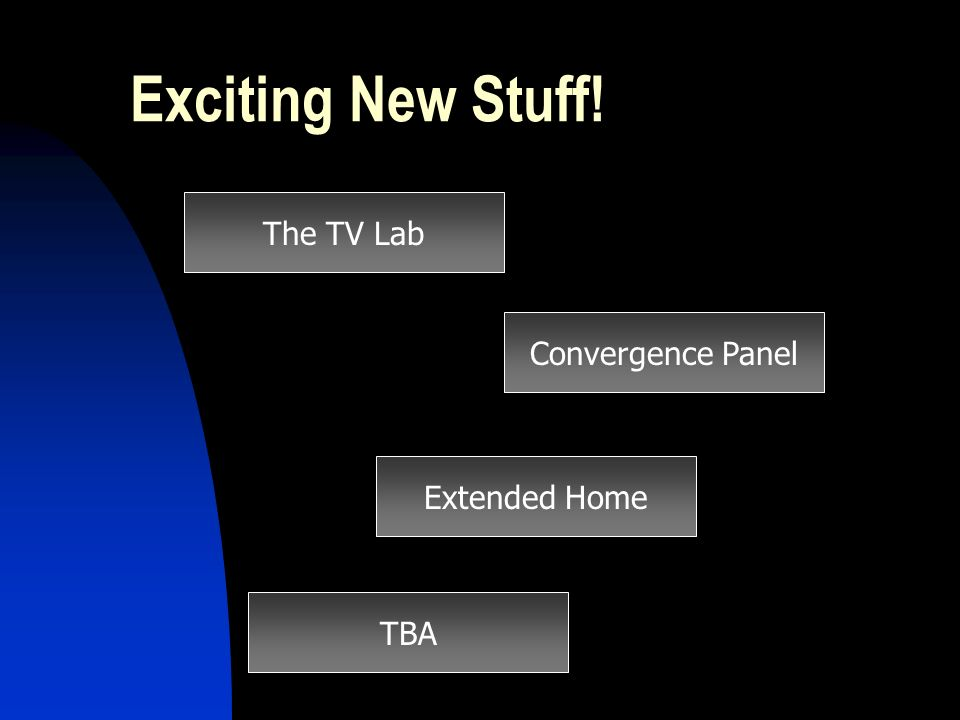 Exciting New Stuff! The TV Lab Convergence Panel Extended Home TBA