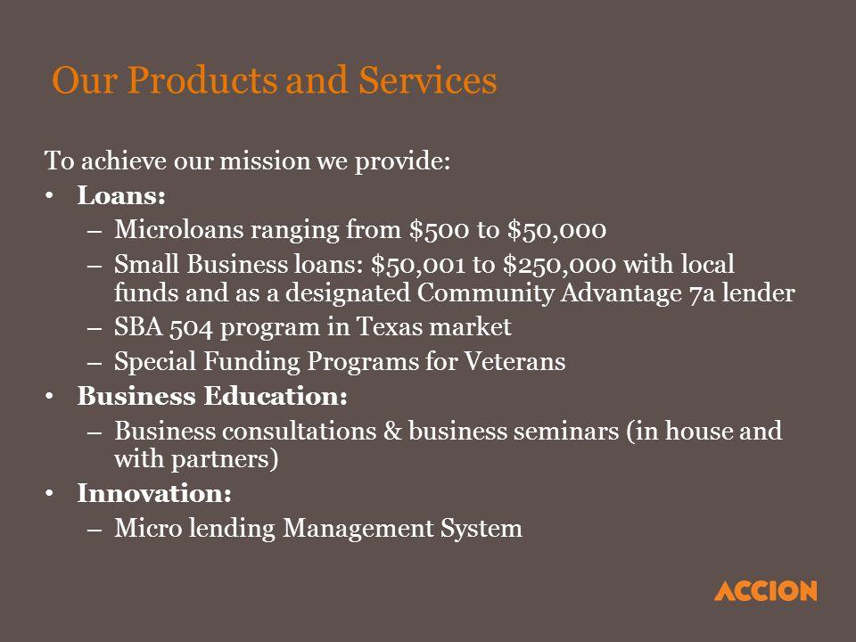 Accion: Resources for Entrepreneurs Mario Cardona Loan