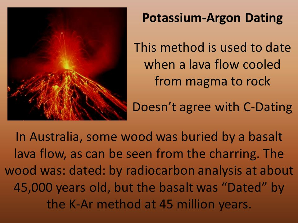 Carbon dating lava flows