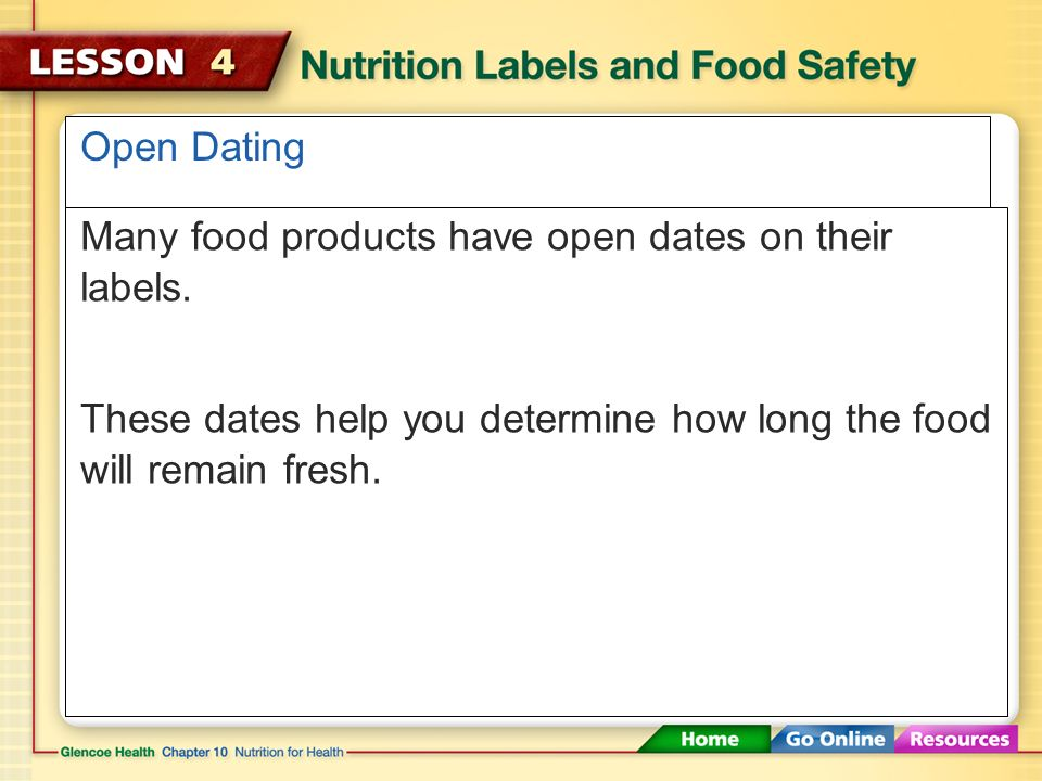 The food label and you fdating