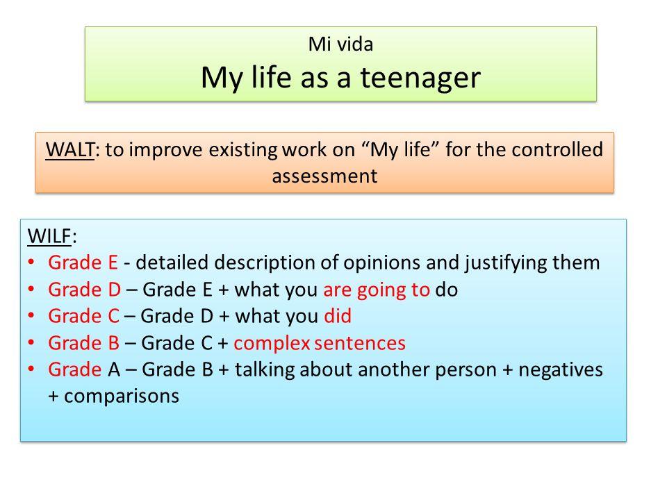 My life as teen