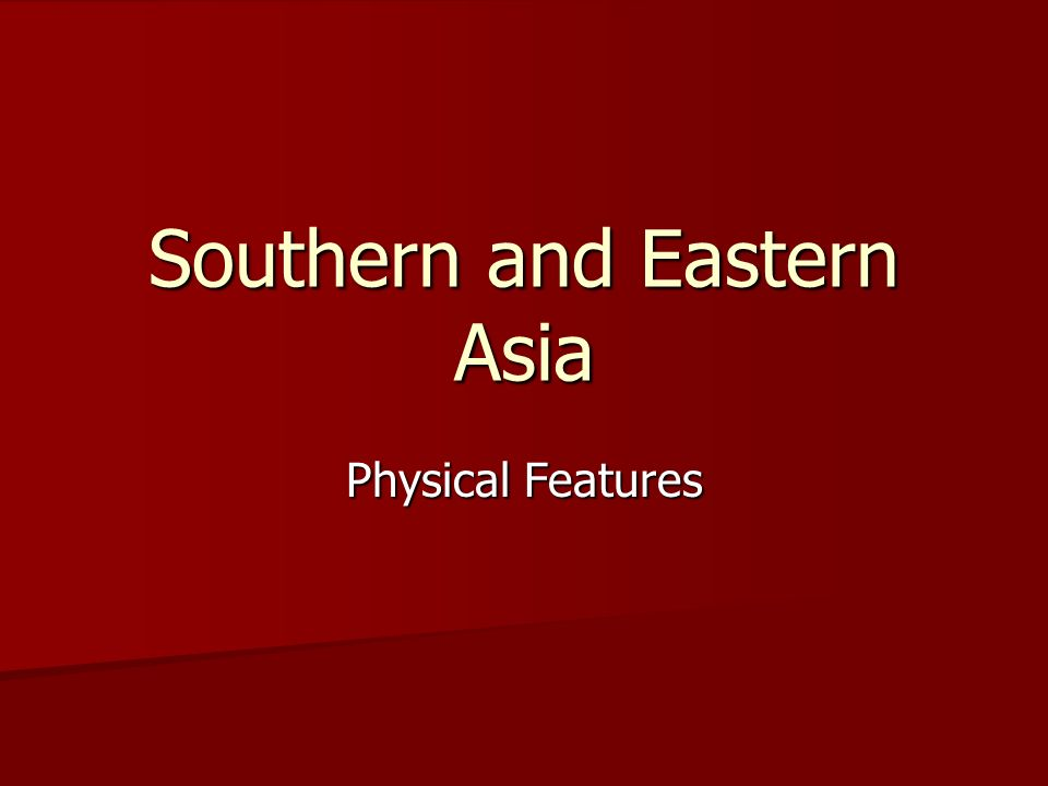 Southern and Eastern Asia Physical Features. Himalayan Mountains On ...