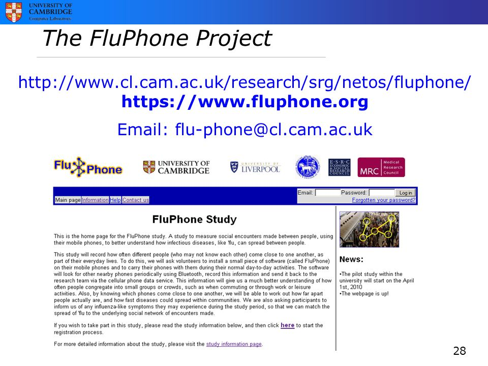 The FluPhone Project