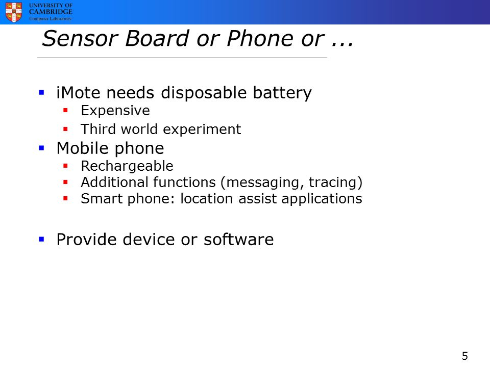 Sensor Board or Phone or...