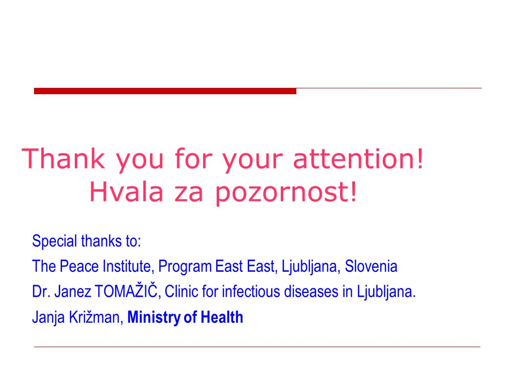 Special thanks to: The Peace Institute, Program East East, Ljubljana, Slovenia Dr.