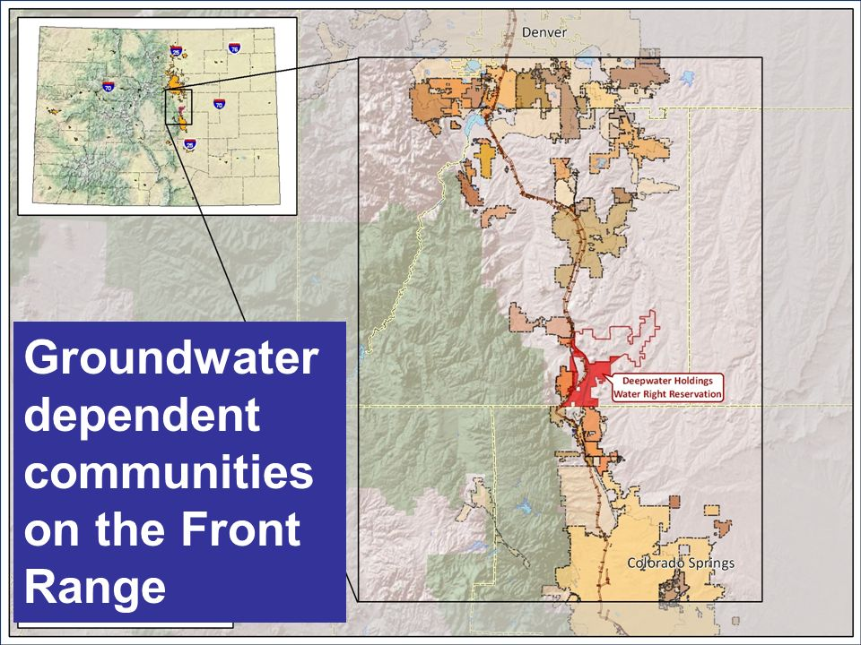 All Rights Reserved © West Water ResearchConfidential and Proprietary Information Groundwater dependent communities on the Front Range