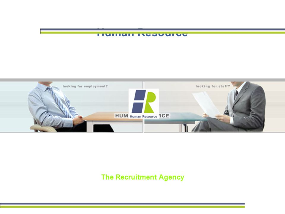 Human Resource The Recruitment Agency