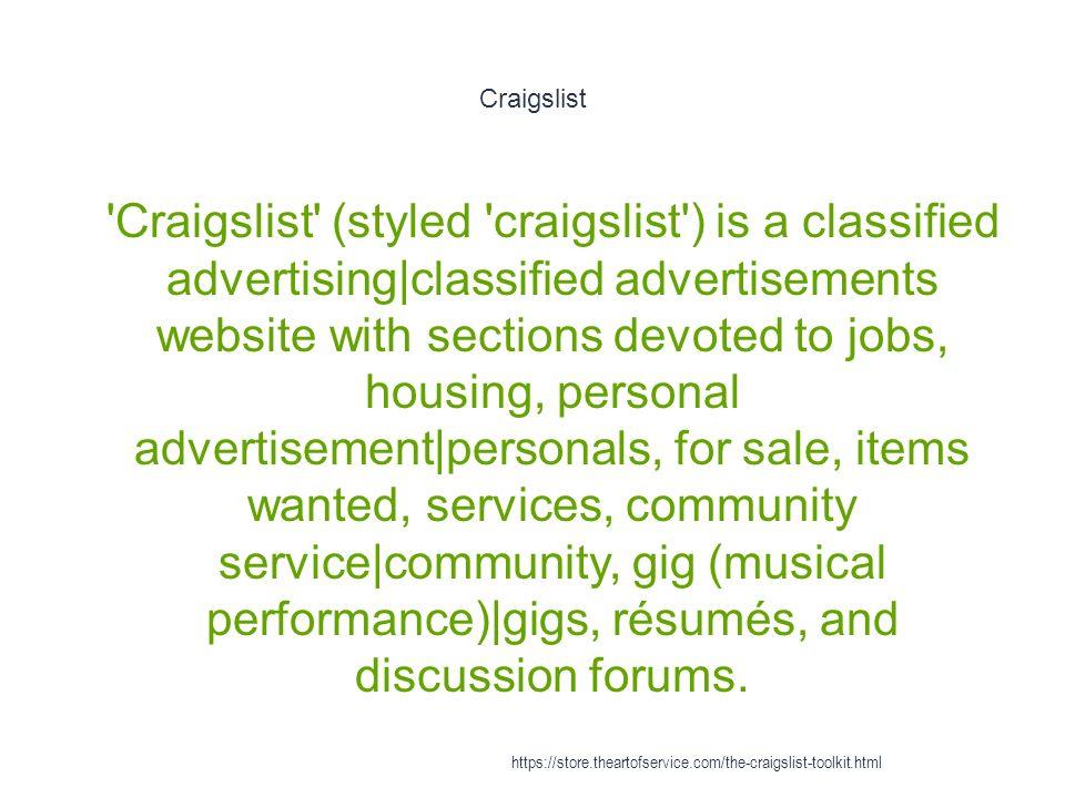 Craigslist - ppt download