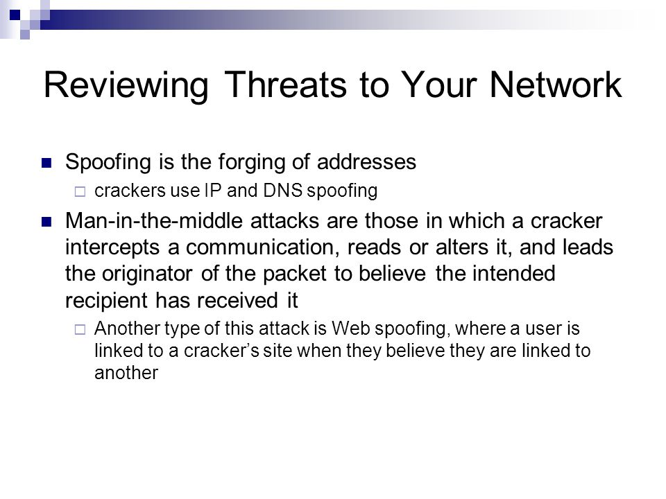 Linux Networking and Security Chapter 11 Network Security