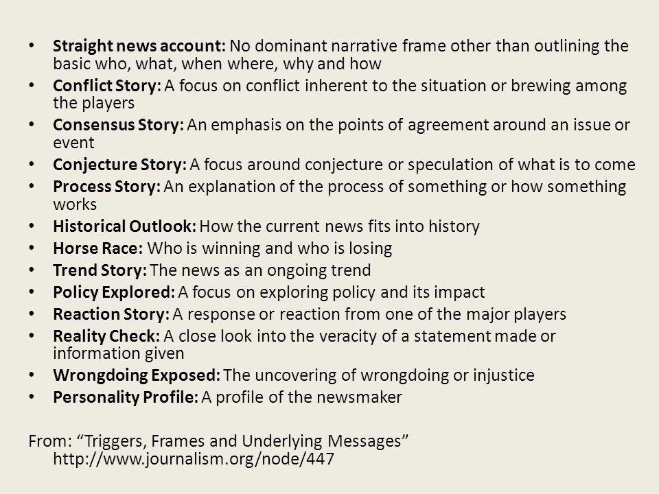 Framing (part 2) Ideological frames vs. Passive Frames vs. Narrative ...