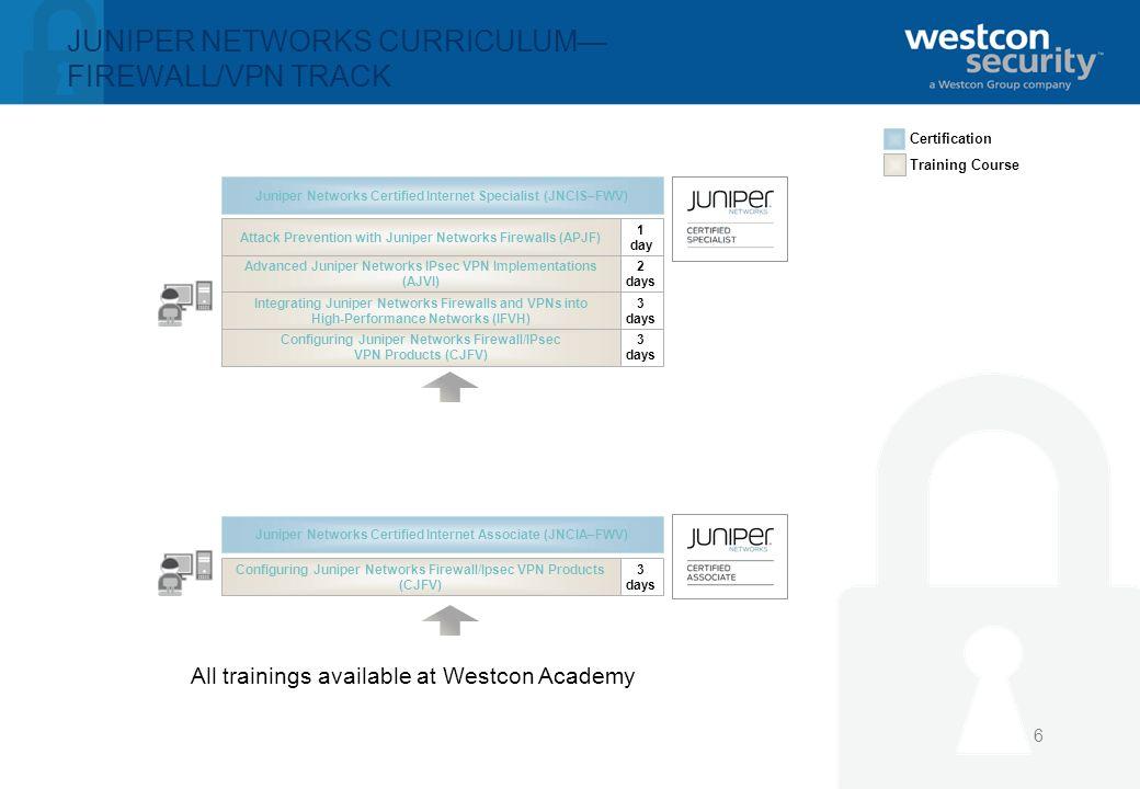 1 Juniper Training Certification Update Dirk Debbaut Manager