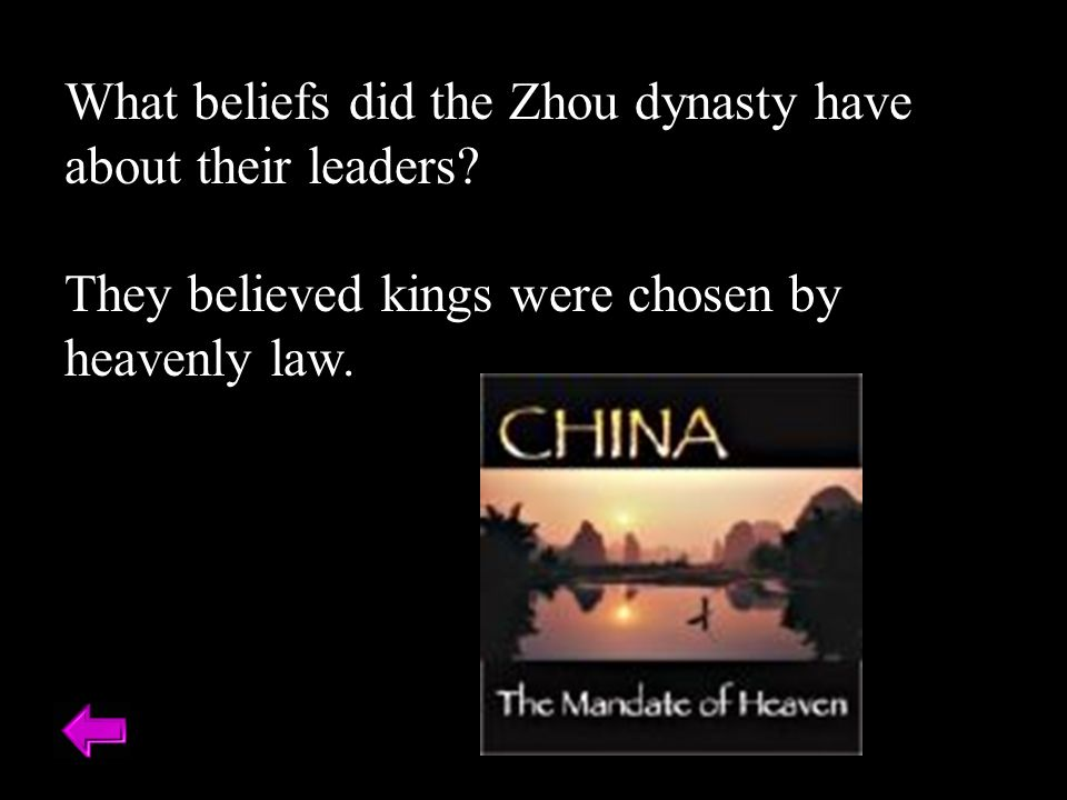 What beliefs did the Zhou dynasty have about their leaders.