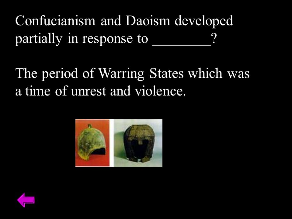 Confucianism and Daoism developed partially in response to ________.