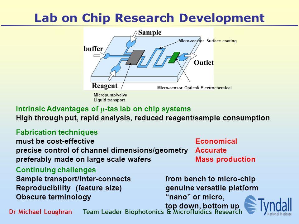 Dr Michael Loughran Team Leader Biophotonics & Microfluidics
