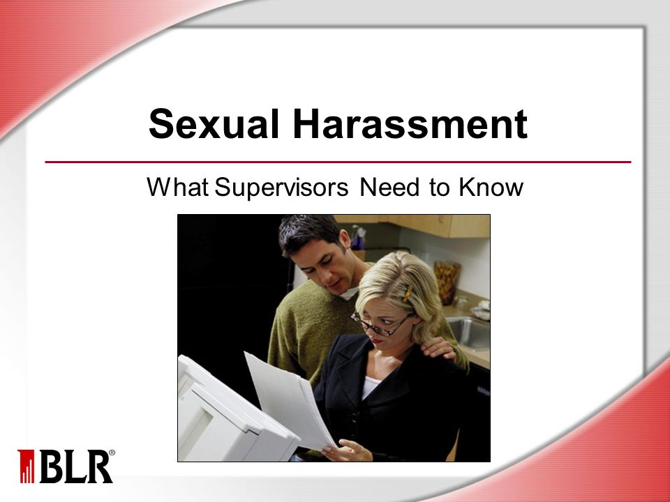 Sexual harassment supervisors