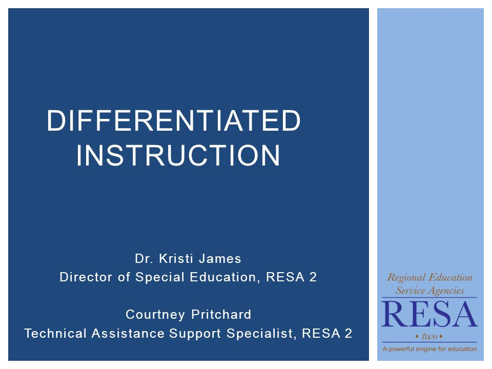 Dr Kristi James Director Of Special Education Resa 2 Courtney