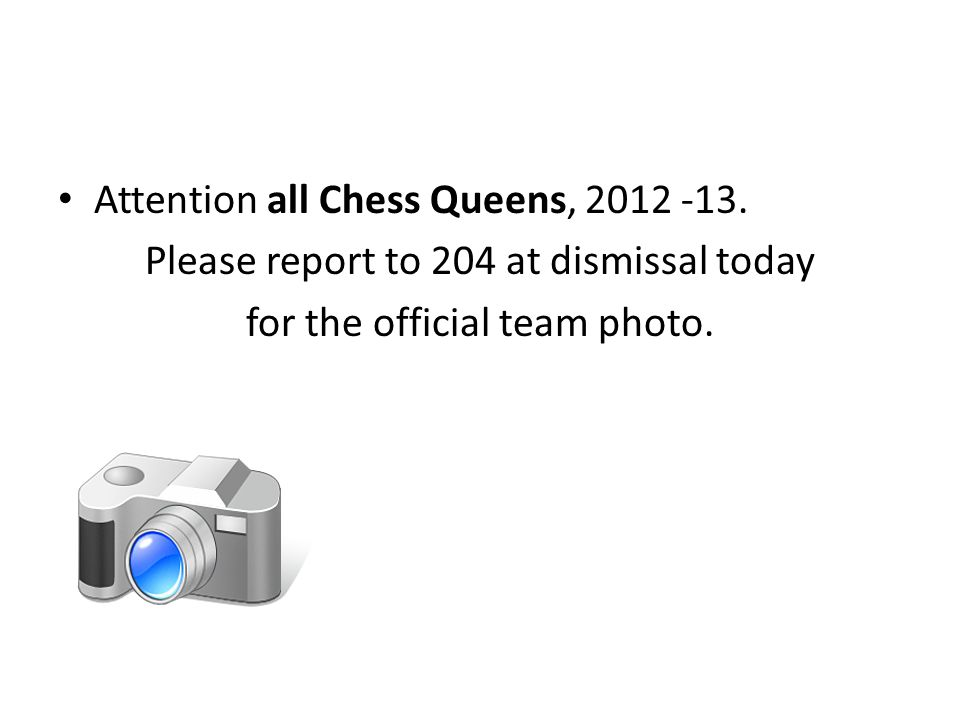 Attention all Chess Queens,