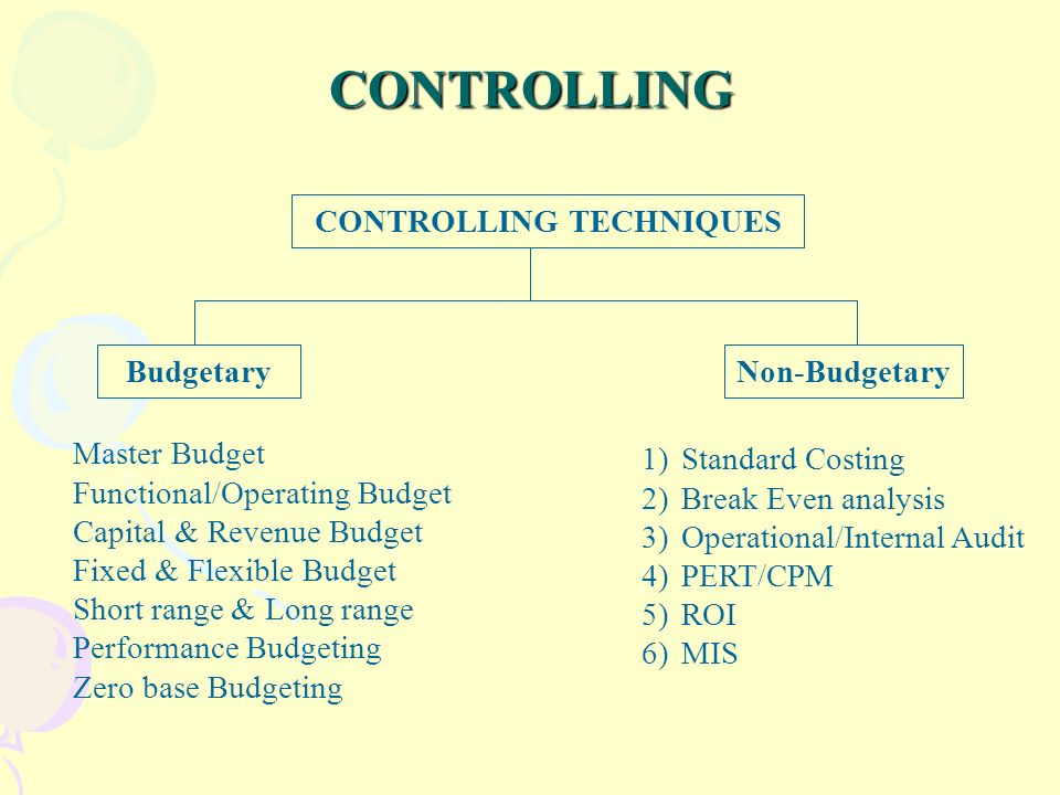 budgetary costing
