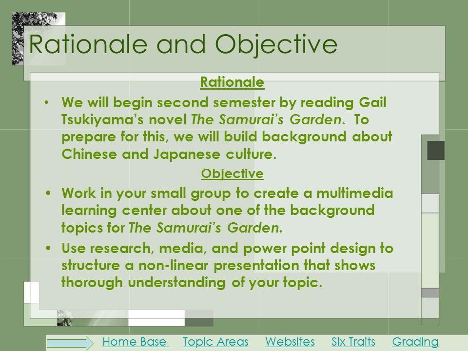 samurais garden essay topics