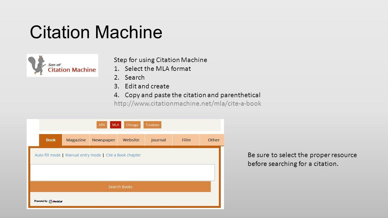 mla format machine