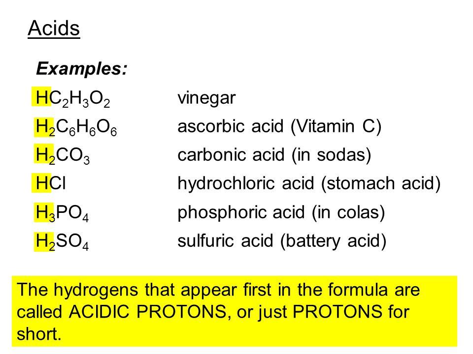 examples of ascorbic acid