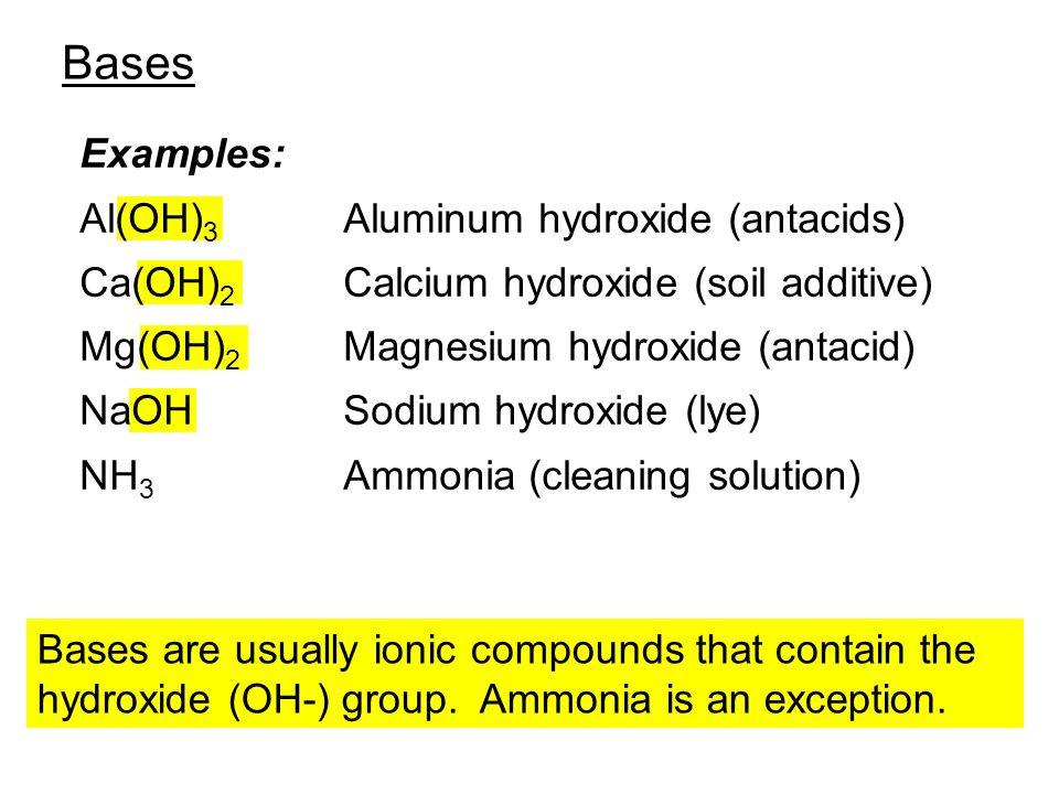 acids examples: hc 2 h 3 o 2 vinegar h 2 c 6 h 6 o 6 ascorbic acid