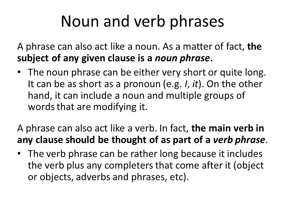 2 Phrases Agreement Phrases A Phrase Is A Group Of Words That