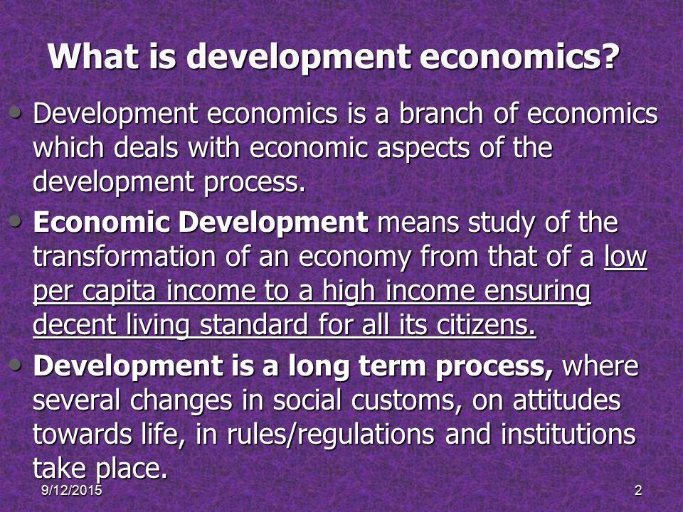 dudley seers definition of development