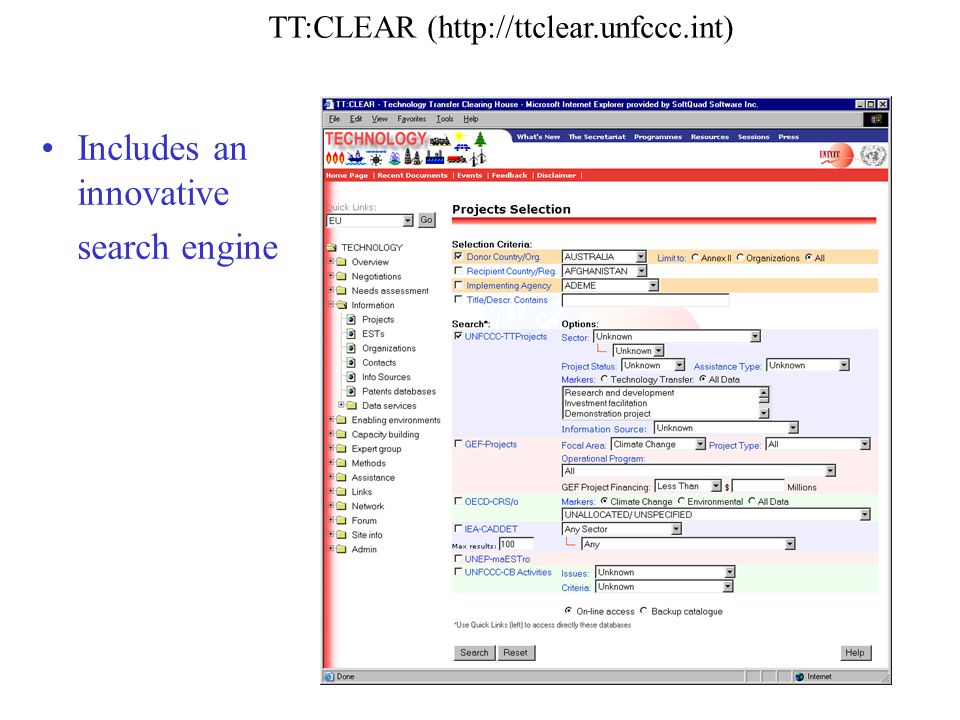 TT:CLEAR (  Includes an innovative search engine