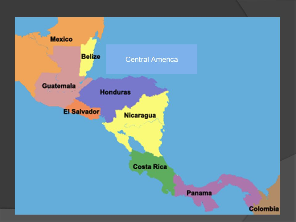 Central America. Middle America Latin America  Different cultural ...