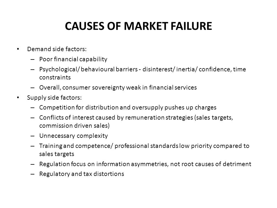 demand side market failure