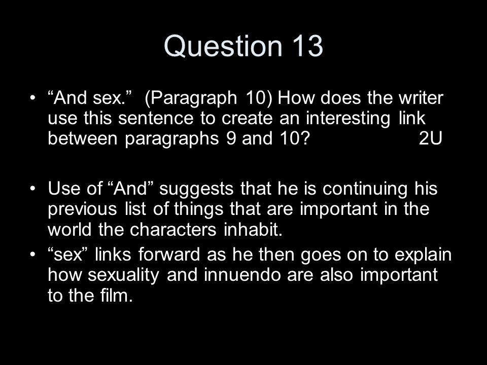 Sexual innuendo in a sentence