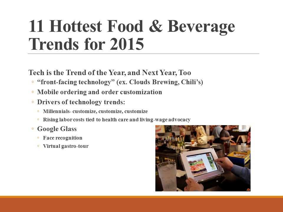 Trends in Food RENO PALOMBIT FACS EDUCATION CONSULTANT NC