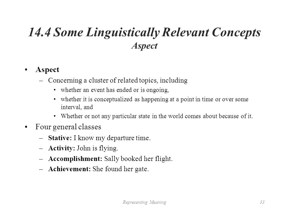Chapter 14 Representing Meaning From Chapter 14 Of An Introduction To Natural Language Processing Computational Linguistics And Speech Recognition Ppt Download