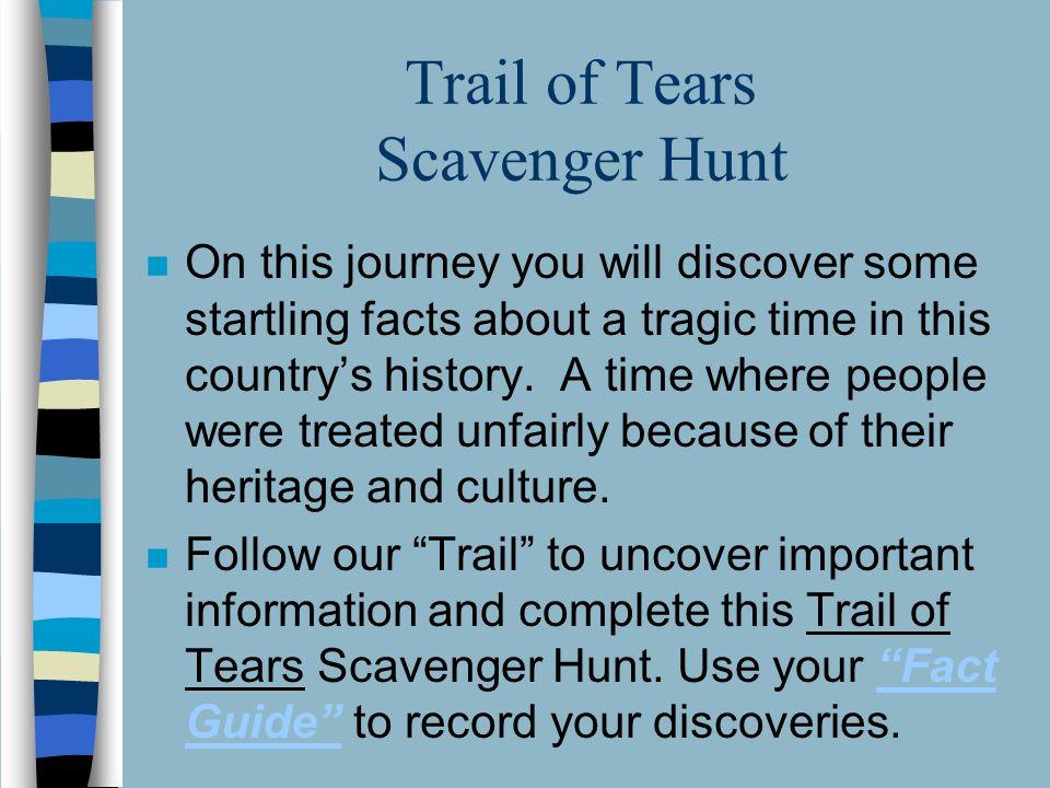 The Trail of Tears The Trail of Tears This PowerPoint
