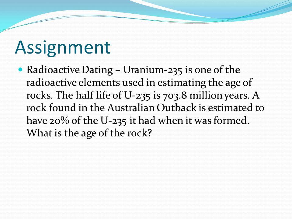 u-235 dating