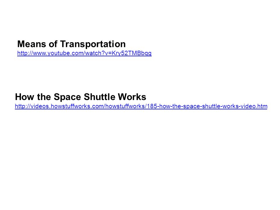 Means of Transportation   v=Kry52TMBbqg How the Space Shuttle Works