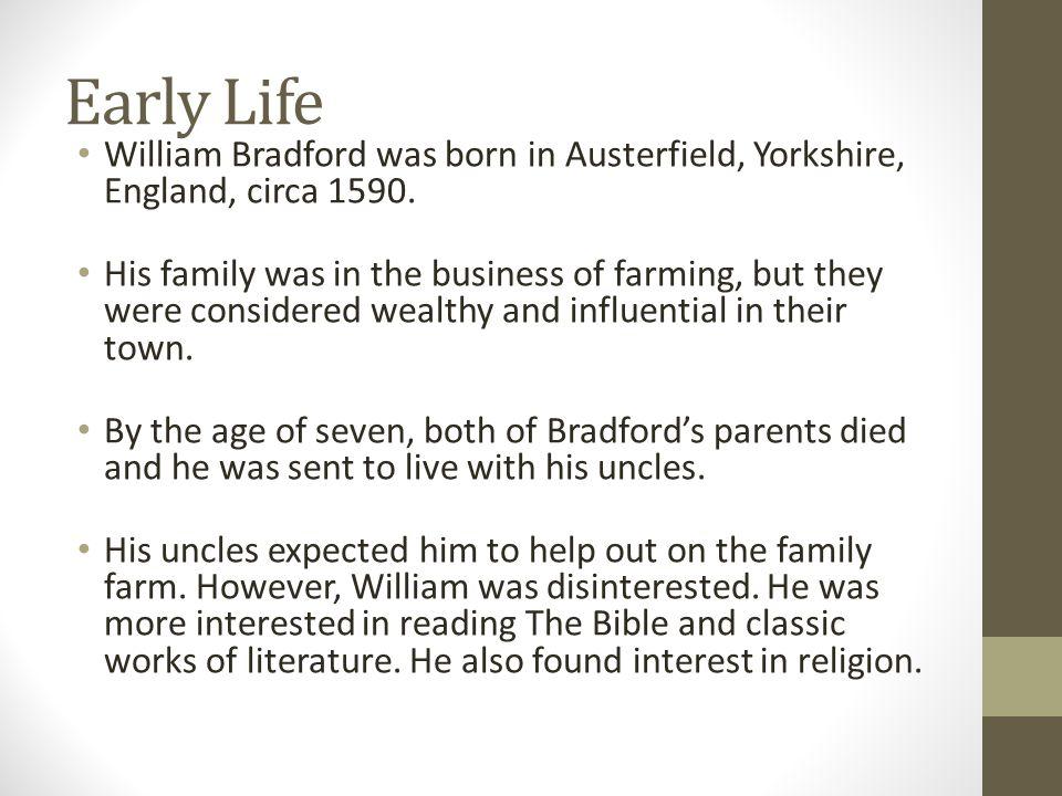 william bradford religion